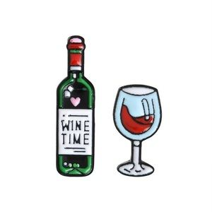 Wine Bottle and Wine Glass Pin